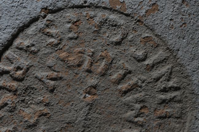 A brick stamp found in the Castellum Aquae during its survey