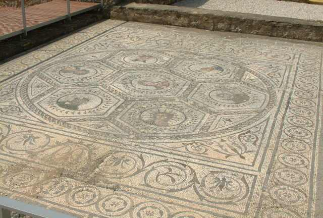 2nd c AD mosaic floor from Italica, the birthplace of the Emperor Trajan
