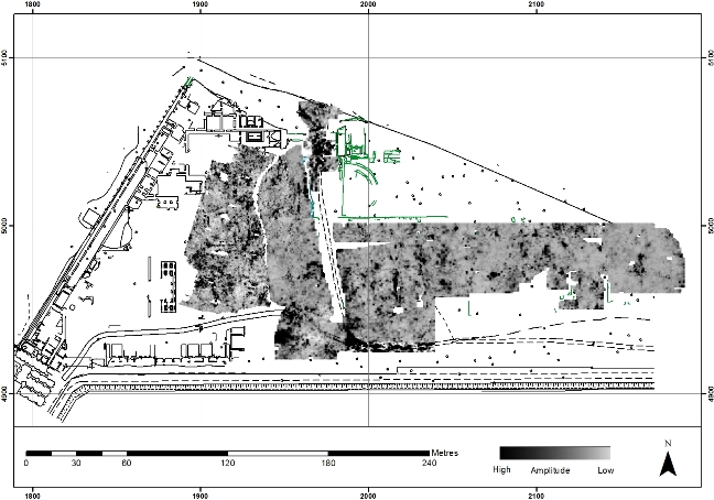 GPR data from the Imperial Palace area, including the Amphitheatre, Castellum Aquae and Building Five