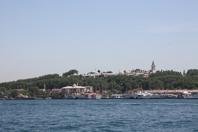 View over the Golden Horn at Istanbul towards the Topkapi Palace, which was sited on what was originally the heart of Constantinople