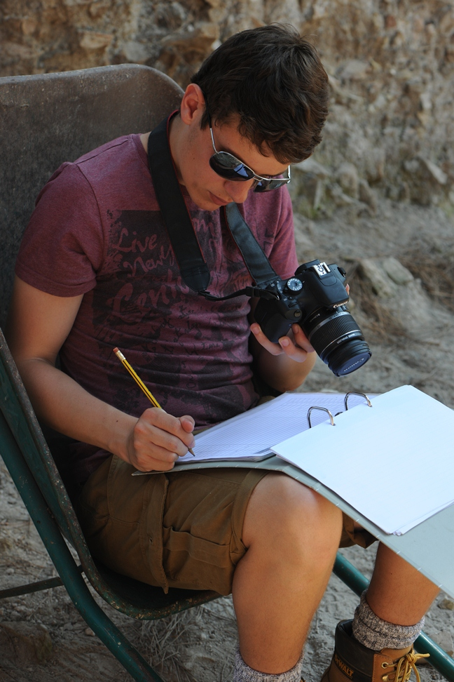 Tom filling in the photographic register