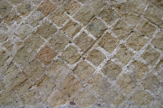 Reticulate wall facing in the Palazzo Imperiale