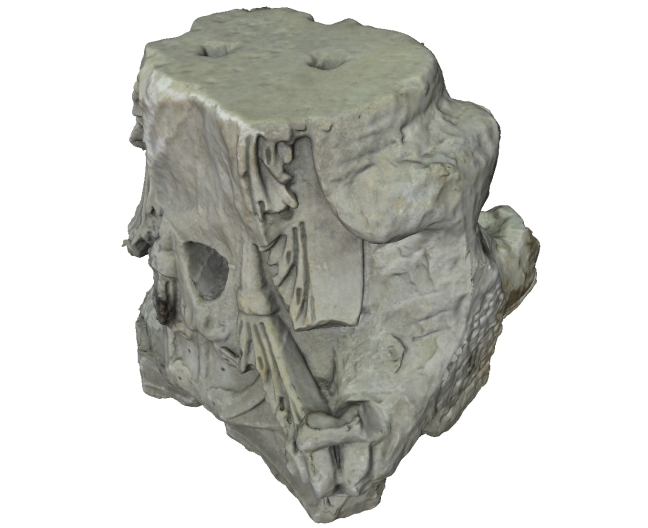 Photogrammetric model of a marble capital from Portus