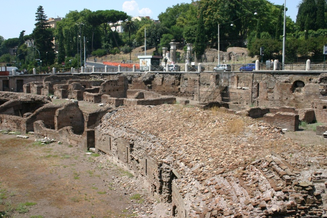The Ludus Magnus - the training amphitheatre next door to the Colosseum at Rome