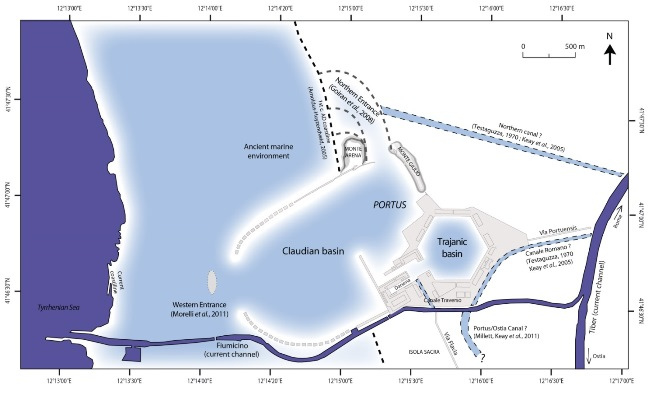 Interpretation of the maritime environment at Portus, in part based on coring evidence gathered by the Portus Project - Ferréol Salomon