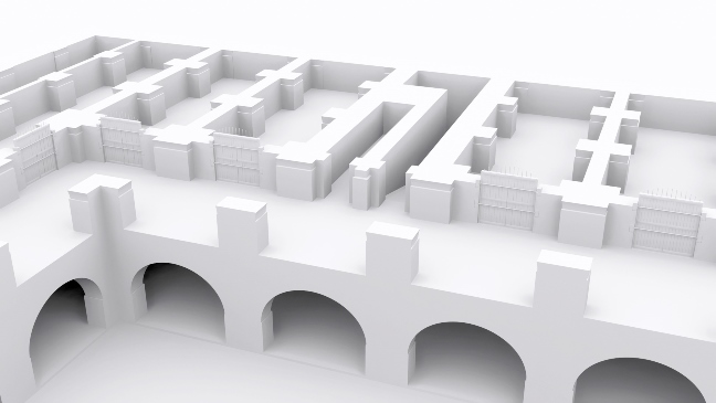 CGI view of the upper storey of the storerooms