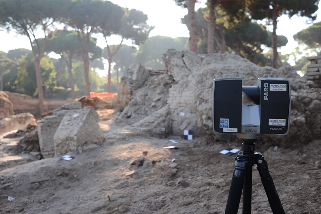 Faro Focus scanner at Portus, provided by Opti-cal Survey