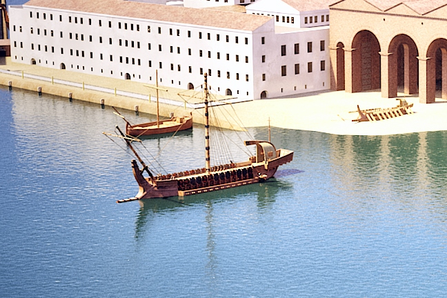 CGI model of building five showing the ships that may have used it - Grant Cox