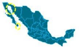 2_Fig 2 Possible sites for kinetic energy extraction from tidal currants on the west coast of Mexico