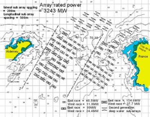 Fig. 10 - Plan view of the full array. (Grids represent 1km)