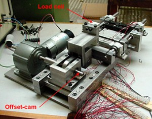 Fig. 2 - Accelerated fretting rig - 1 connector on test.
