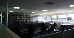 Fig. 9 - Inside view of the library with sunlight incident in the HOE's ideal working angle.