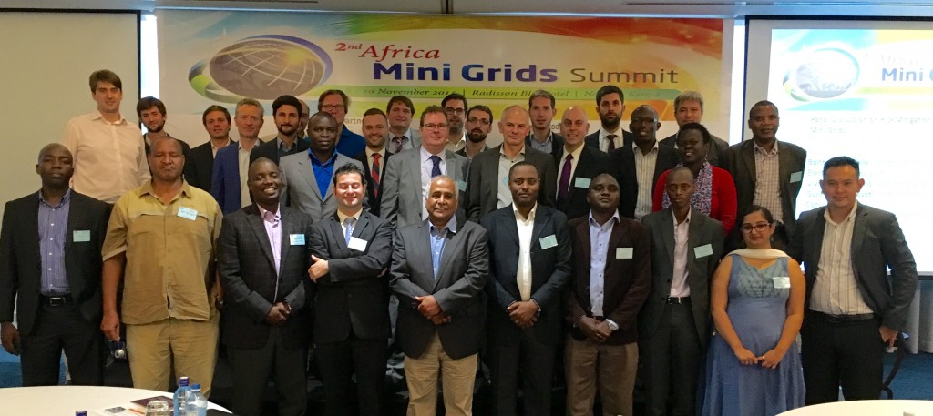 Speakers at the 2nd Mini Grid Summit Chaired by Prof Bahaj (Centre), Nairobi, 18 – 20 Nov 2015, Kenya