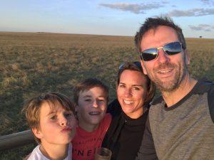 Crispin Malpas and family