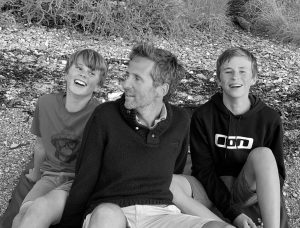 Crispin Malpas with his sons